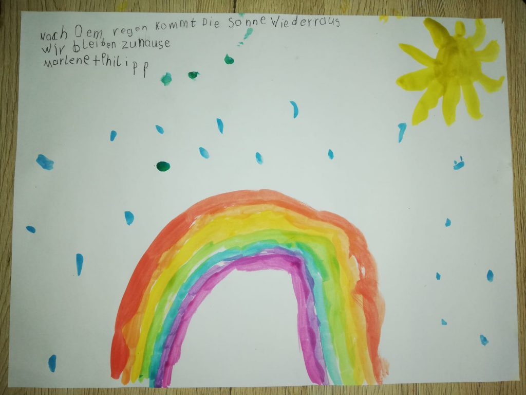Lasst Uns Auch Alle Regenbogenbilder Malen Grundschule Grossenmarpe